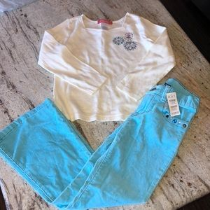 Kids blue jeans and top bundle